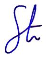 Stuart Haysman signature